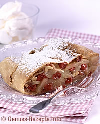 Strudel mit Cranberries