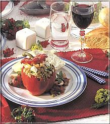 rezepte vegetarisch gef llte paprikaschoten. Black Bedroom Furniture Sets. Home Design Ideas